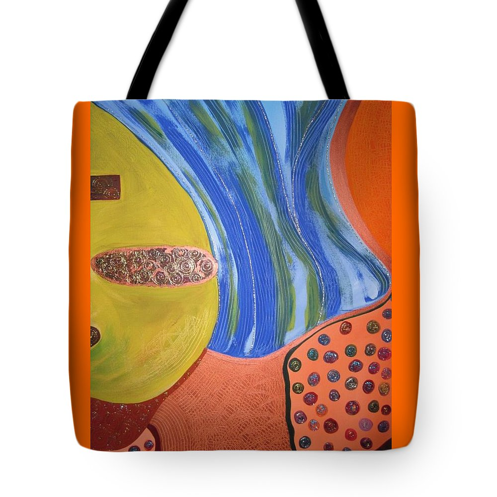 Abstract Tote Bag featuring the painting Underground by Zoe Vega Questell