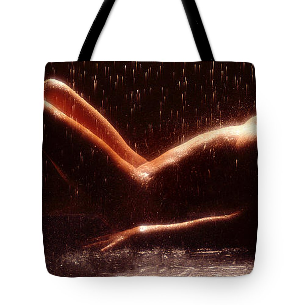 Nude Tote Bag featuring the photograph Untitled by Jon Neidert
