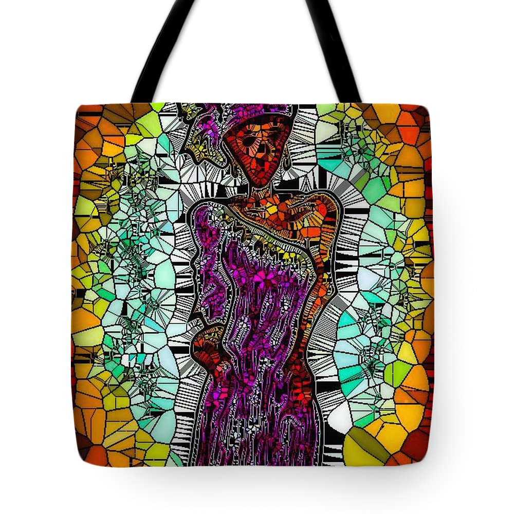 Tote Bag featuring the digital art Untitled by Tina Vaughn