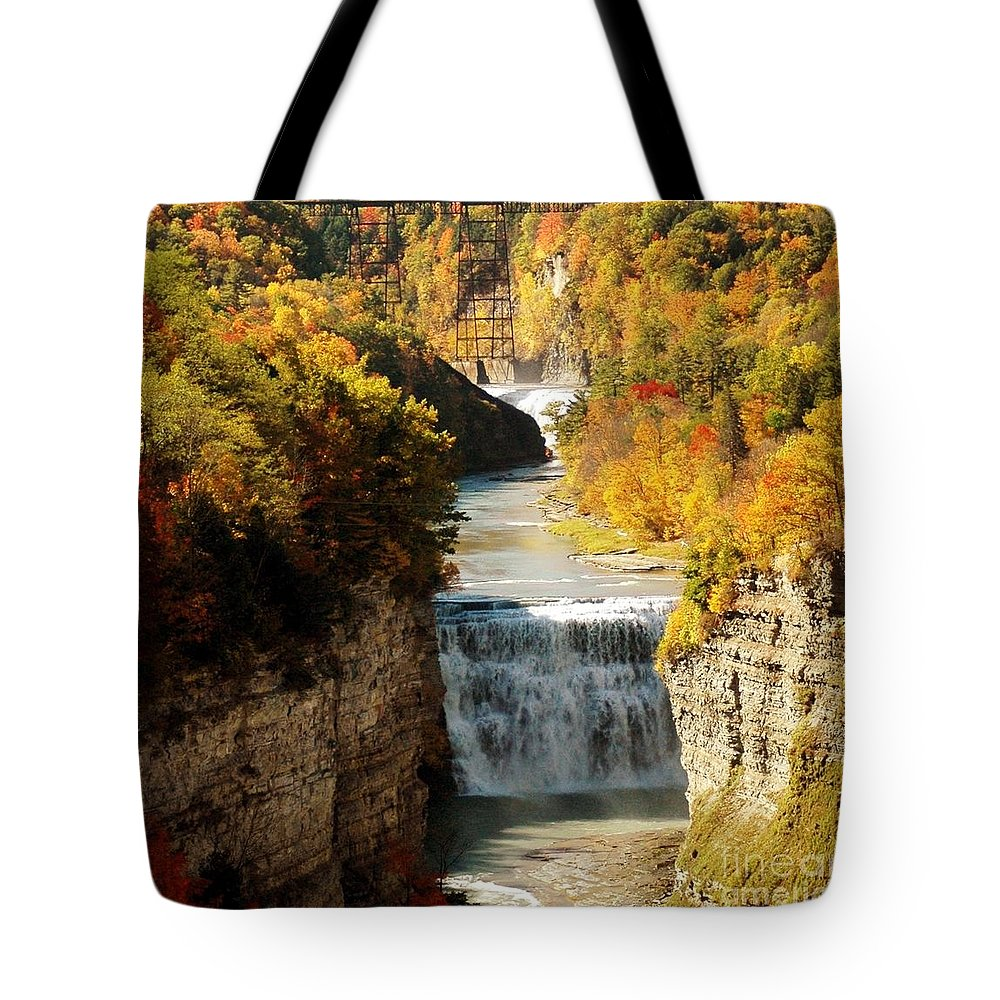 Upper Tote Bag featuring the photograph Upper Falls by Kathleen Struckle