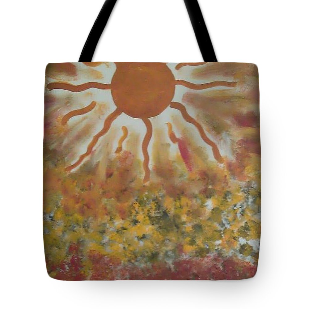 Abstract Tote Bag featuring the painting Vibrations by Lisa S Patti