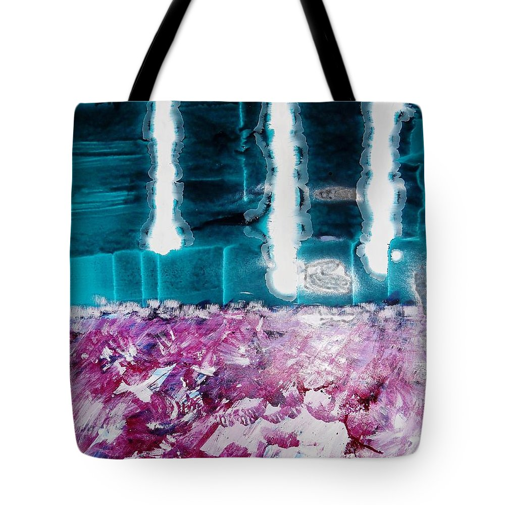 Abstract Expressionism Tote Bag featuring the painting Vision by Fatiha Boudar