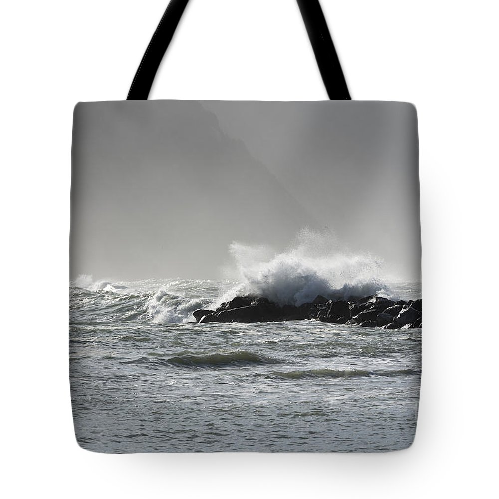 Wave Tote Bag featuring the photograph Wave by Mats Silvan