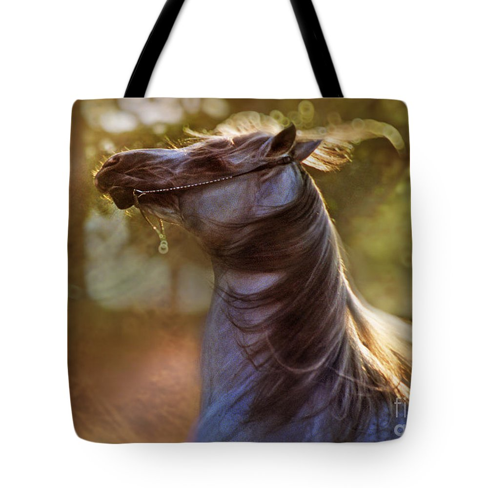 Horse Tote Bag featuring the photograph Wild Heart by Angel Ciesniarska