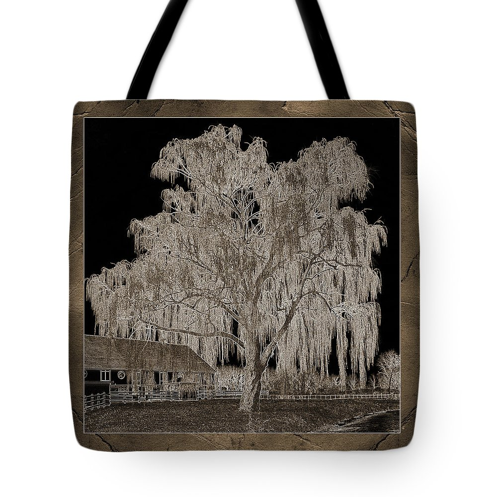 Willow Tree Tote Bag featuring the photograph Willow Ranch by John Stephens