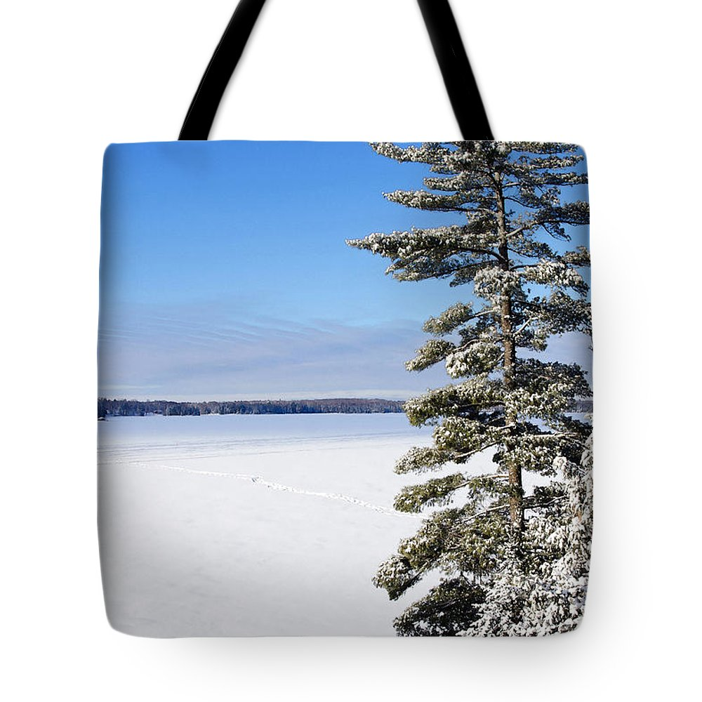 Landscape Tote Bag featuring the photograph Winter Light by Keith Armstrong