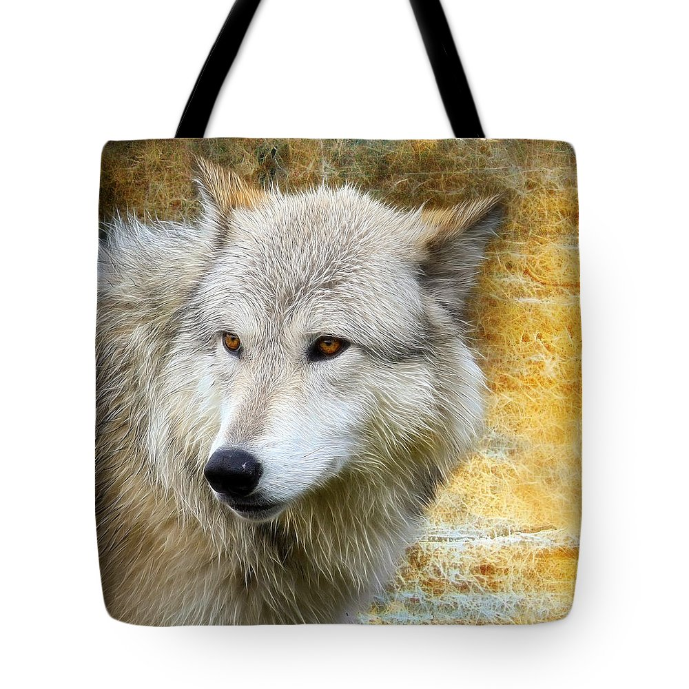 Wolf Art Tote Bag featuring the photograph Wolf 2 by Steve McKinzie