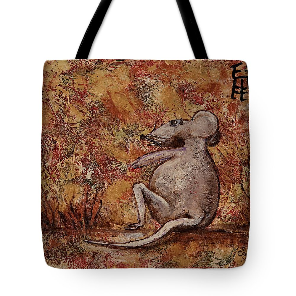 Animal Tote Bag featuring the painting Year Of The Rat by Darice Machel McGuire
