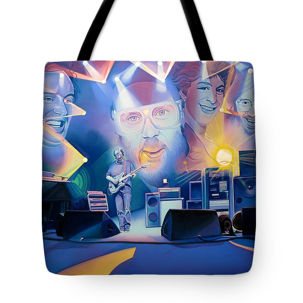 Phish Tote Bag featuring the drawing Phish-20 Years Later by Joshua Morton