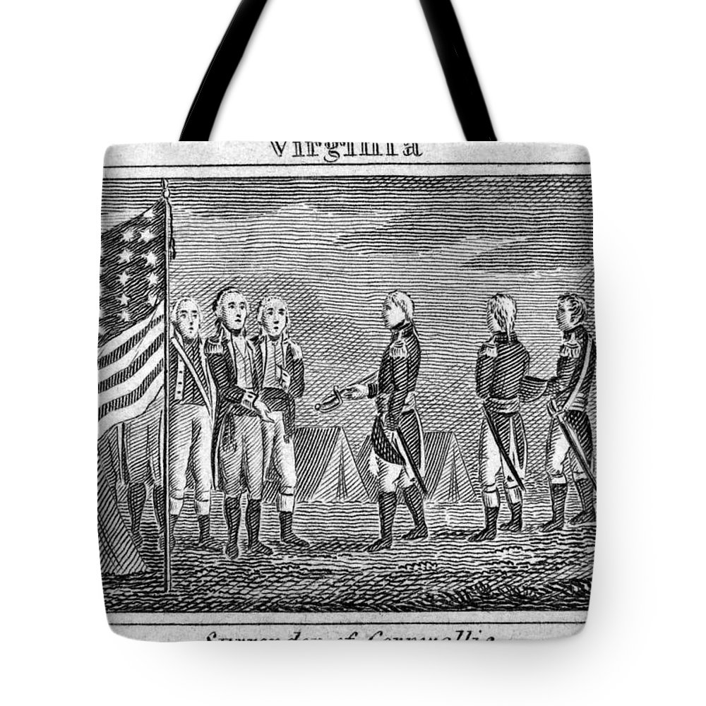 1781 Tote Bag featuring the photograph Yorktown: Surrender, 1781 by Granger