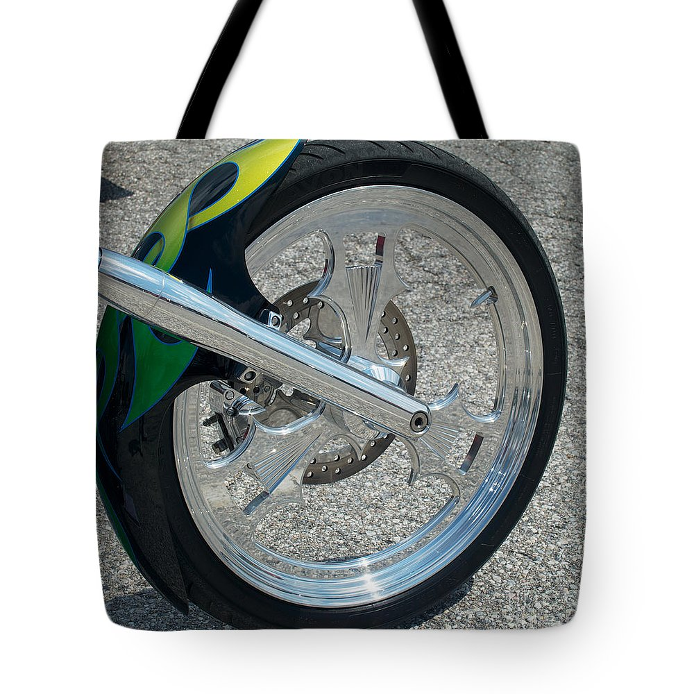 2004 Tote Bag featuring the photograph 2004 Hell Bound Steel Motorcycle by Mark Dodd