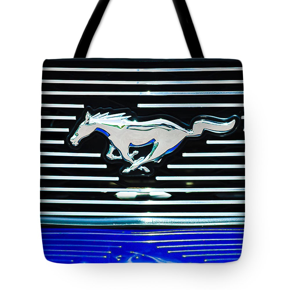 2007 Ford Mustang Grille Emblem Tote Bag featuring the photograph 2007 Ford Mustang Grille Emblem by Jill Reger