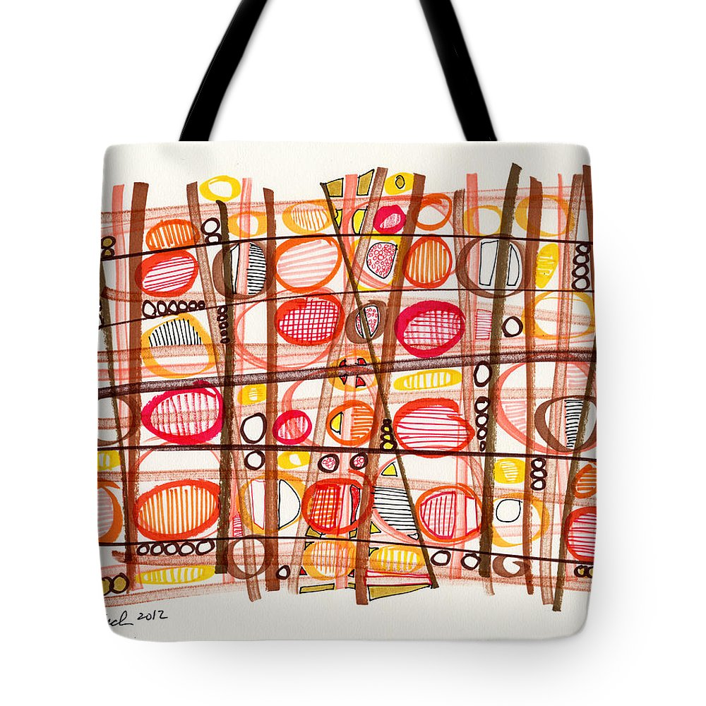 Abstract Tote Bag featuring the drawing 2012 Drawing #32 by Lynne Taetzsch
