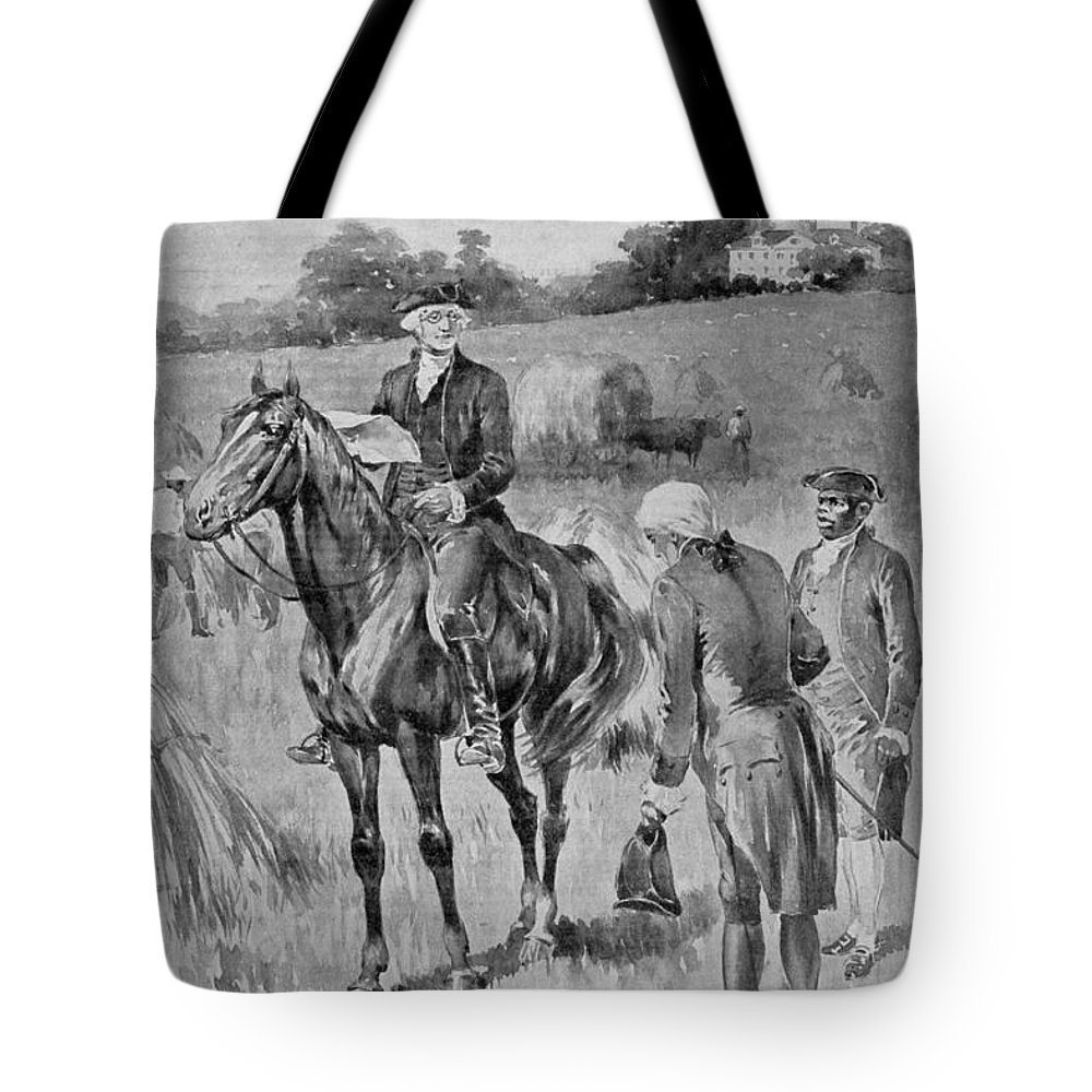 18th Century Tote Bag featuring the photograph George Washington by Granger