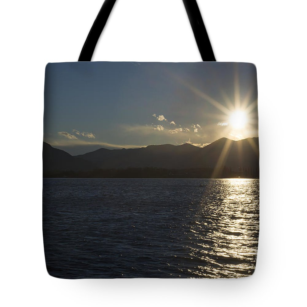 Lake Tote Bag featuring the photograph Alpine Lake by Mats Silvan