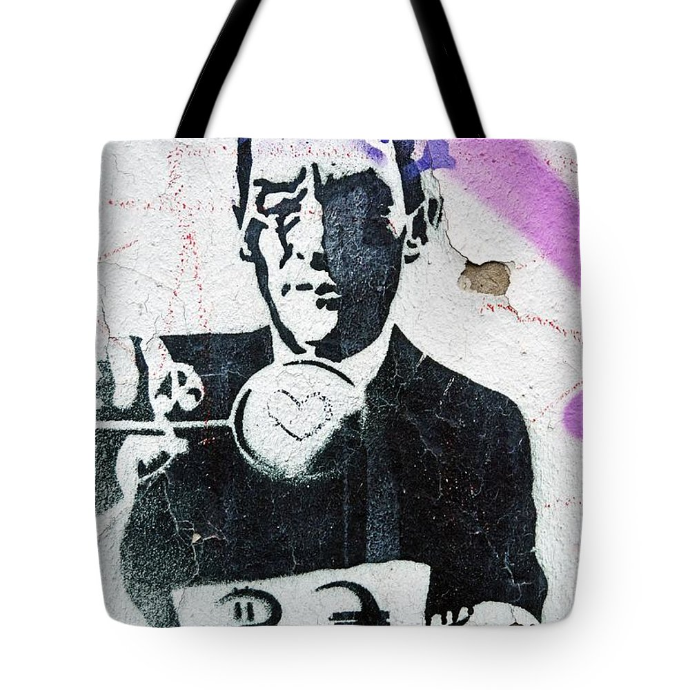 Textured Tote Bag featuring the photograph Graffiti by FL collection