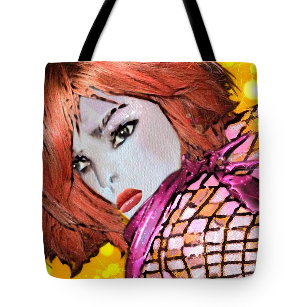 Pikotine Tote Bag featuring the painting Lyne by Pikotine Art
