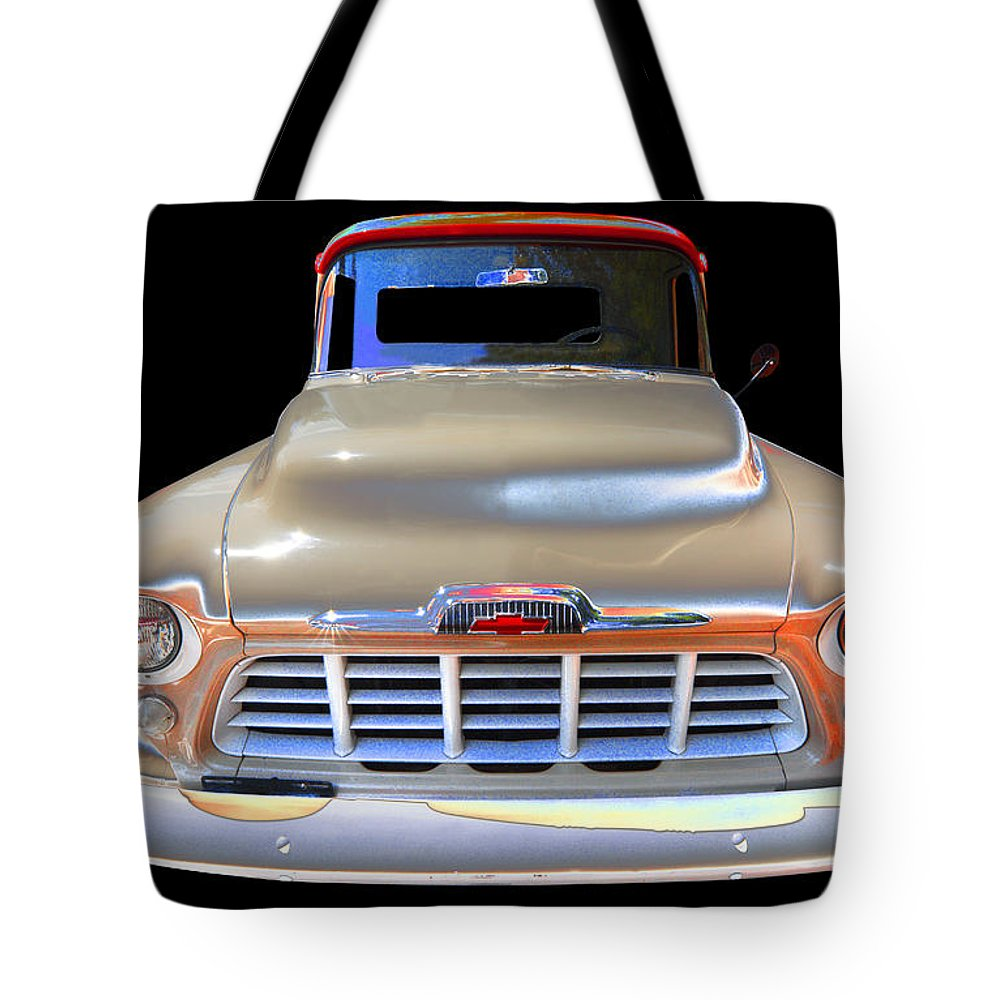 1956 Chevy Pick Up Tote Bag featuring the photograph Chevy by Allan Price