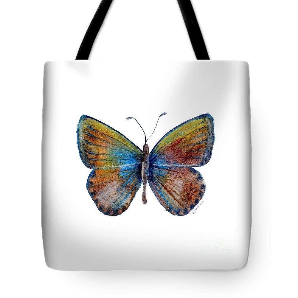 Clue Tote Bag featuring the painting 22 Clue Butterfly by Amy Kirkpatrick