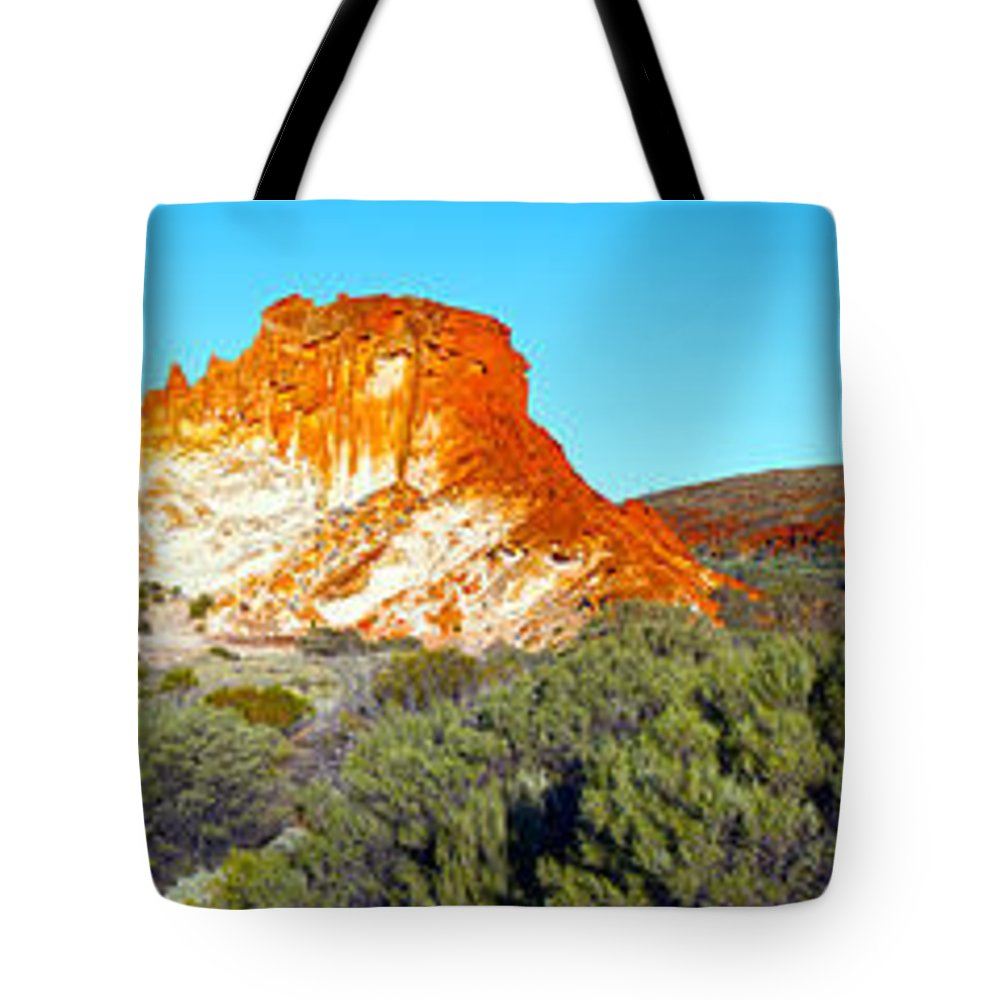 Rainbow Valley Outback Landscape Central Australia Australian Northern Territory Panorama Panoramic Clay Pan Dry Arid Tote Bag featuring the photograph Rainbow Valley by Bill Robinson
