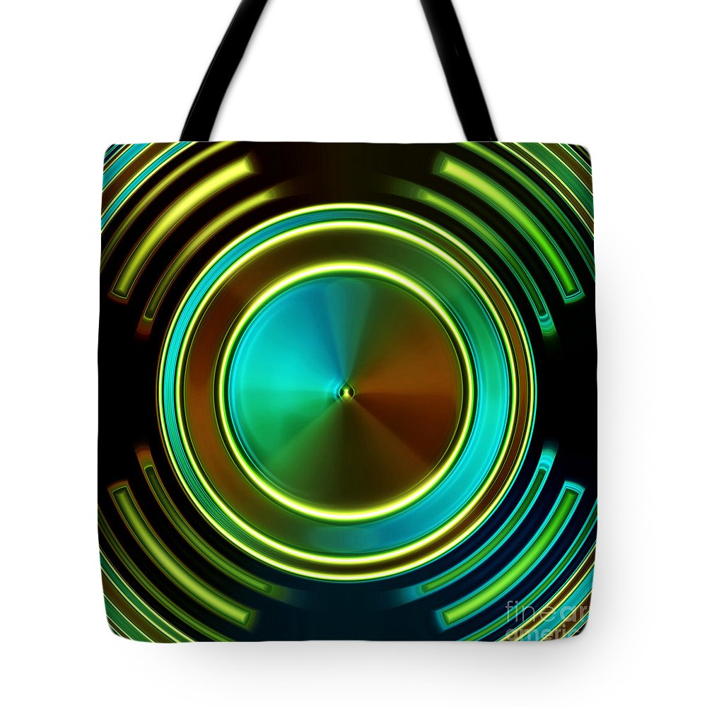 New Tote Bag featuring the digital art Abstract by Dan Radi