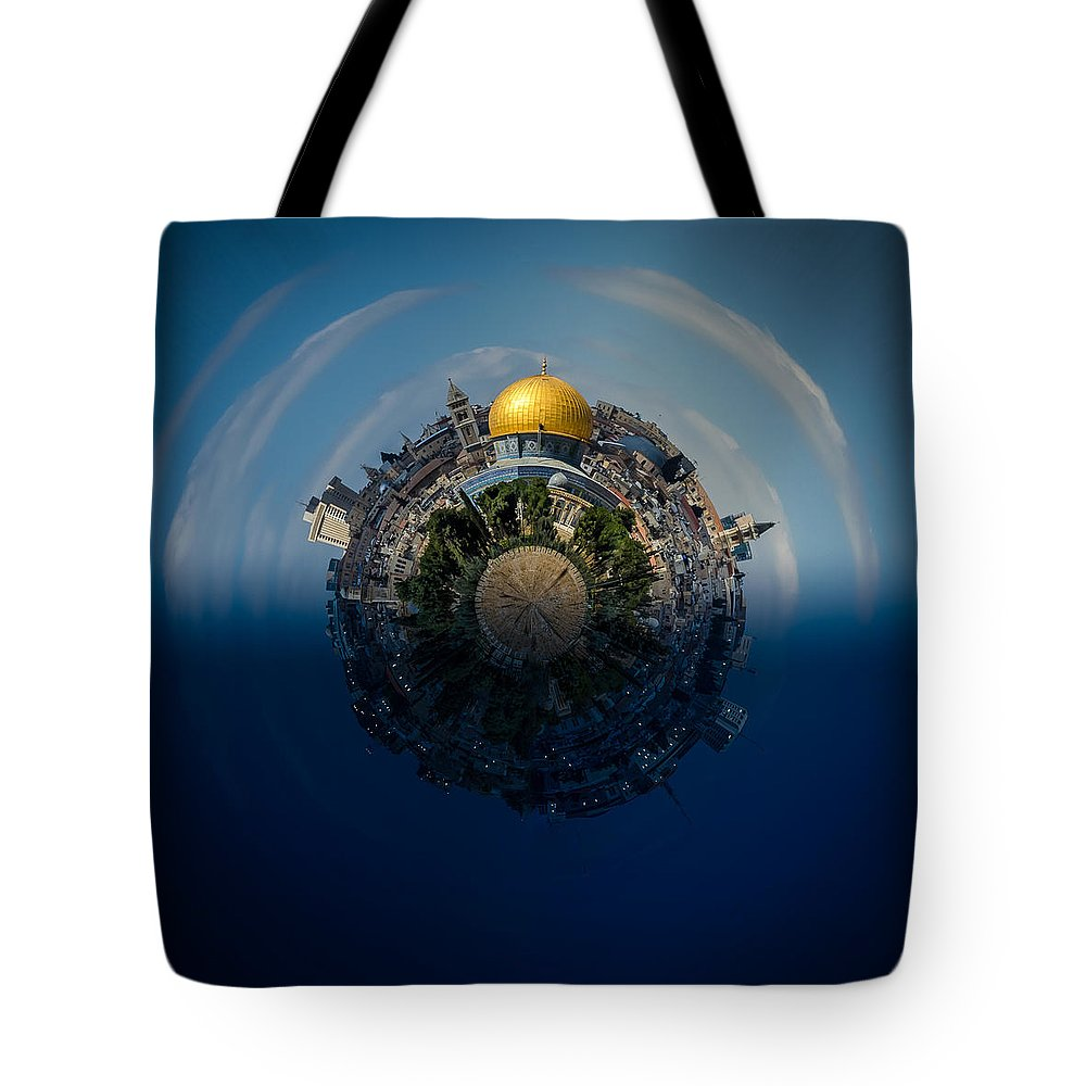 24 Hours In Jerusalem Tote Bag featuring the photograph 24 Hours In Jerusalem by David Morefield