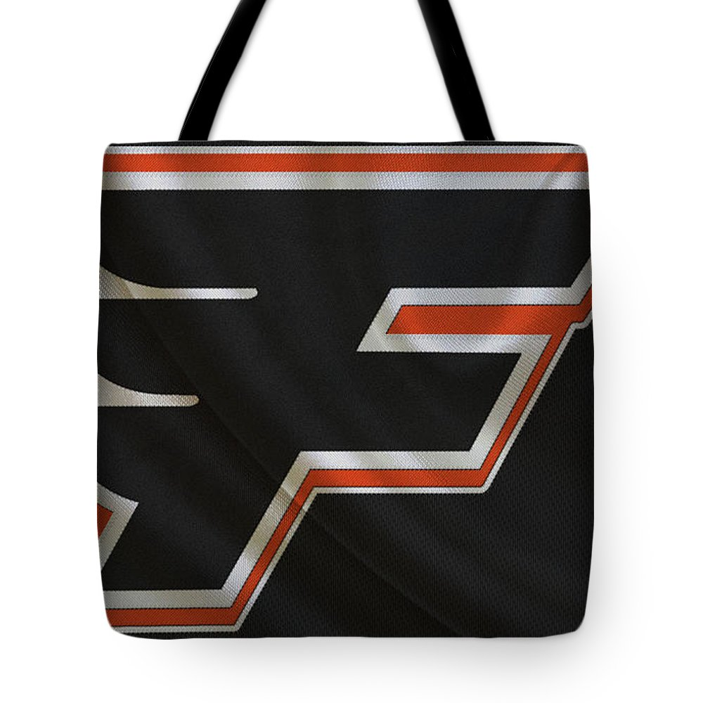 Flyers Tote Bag featuring the photograph Philadelphia Flyers by Joe Hamilton
