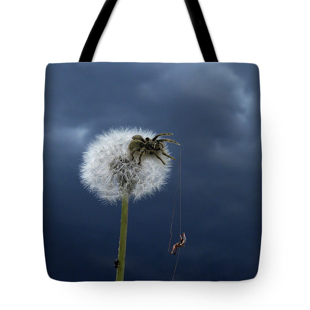 Dandelion Tote Bag featuring the photograph 2507 by Peter Holme III