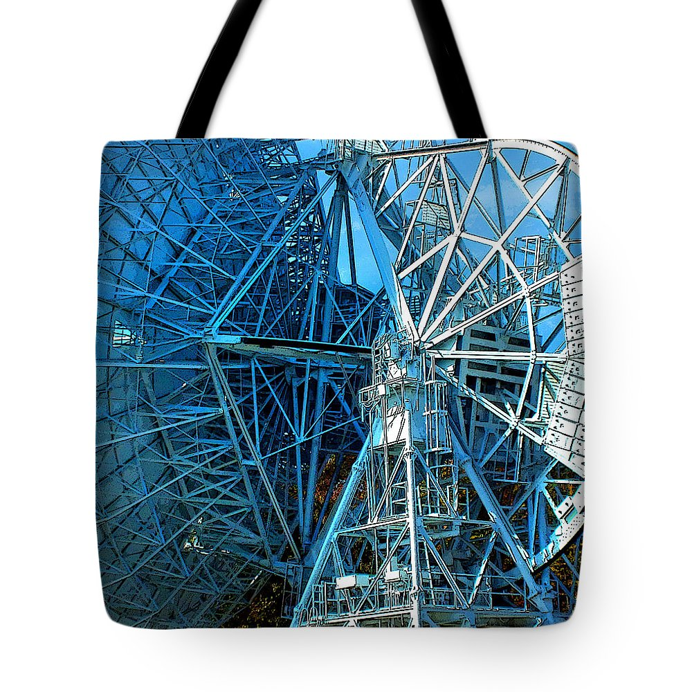 Duane Mccullough Tote Bag featuring the photograph 26 East Antenna Abstract 1 by Duane McCullough