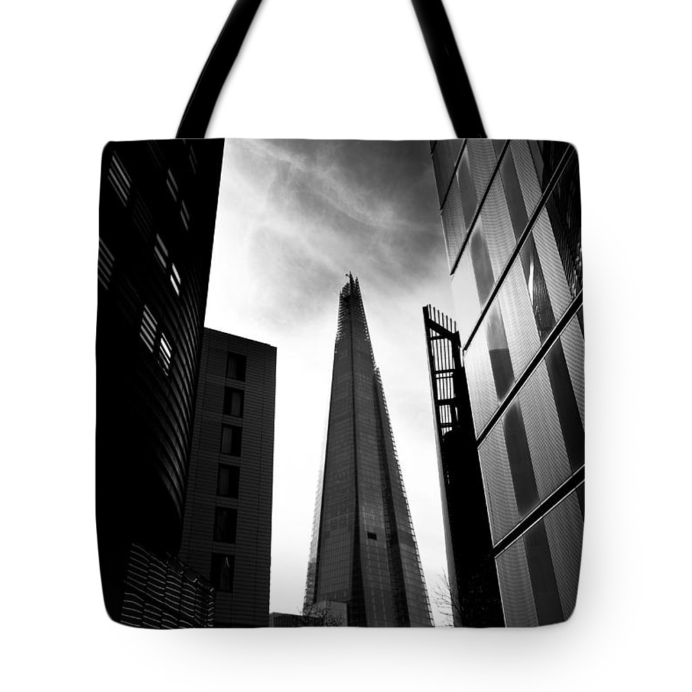 The Shard Tote Bag featuring the photograph The Shard by David Pyatt