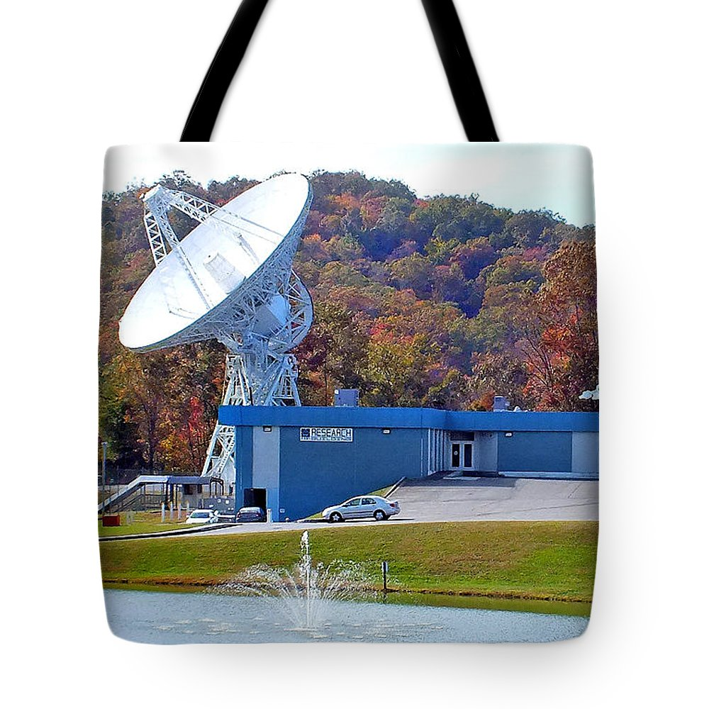 Duane Mccullough Tote Bag featuring the photograph 26 West Antenna And Research Building by Duane McCullough