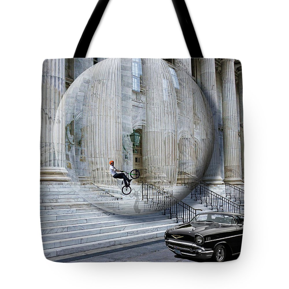 Architecture Tote Bag featuring the photograph 2665 by Peter Holme III