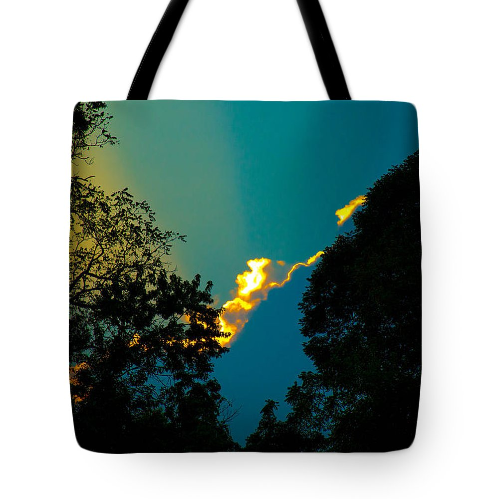Landscape Storm Sunset Blue Trees Bruce Pritchett Bruce-pritchett.artistwebsites.com Bruce-pritchett.fineartamerica.com Tote Bag featuring the photograph 2nd Image After The Storm by Bruce Pritchett