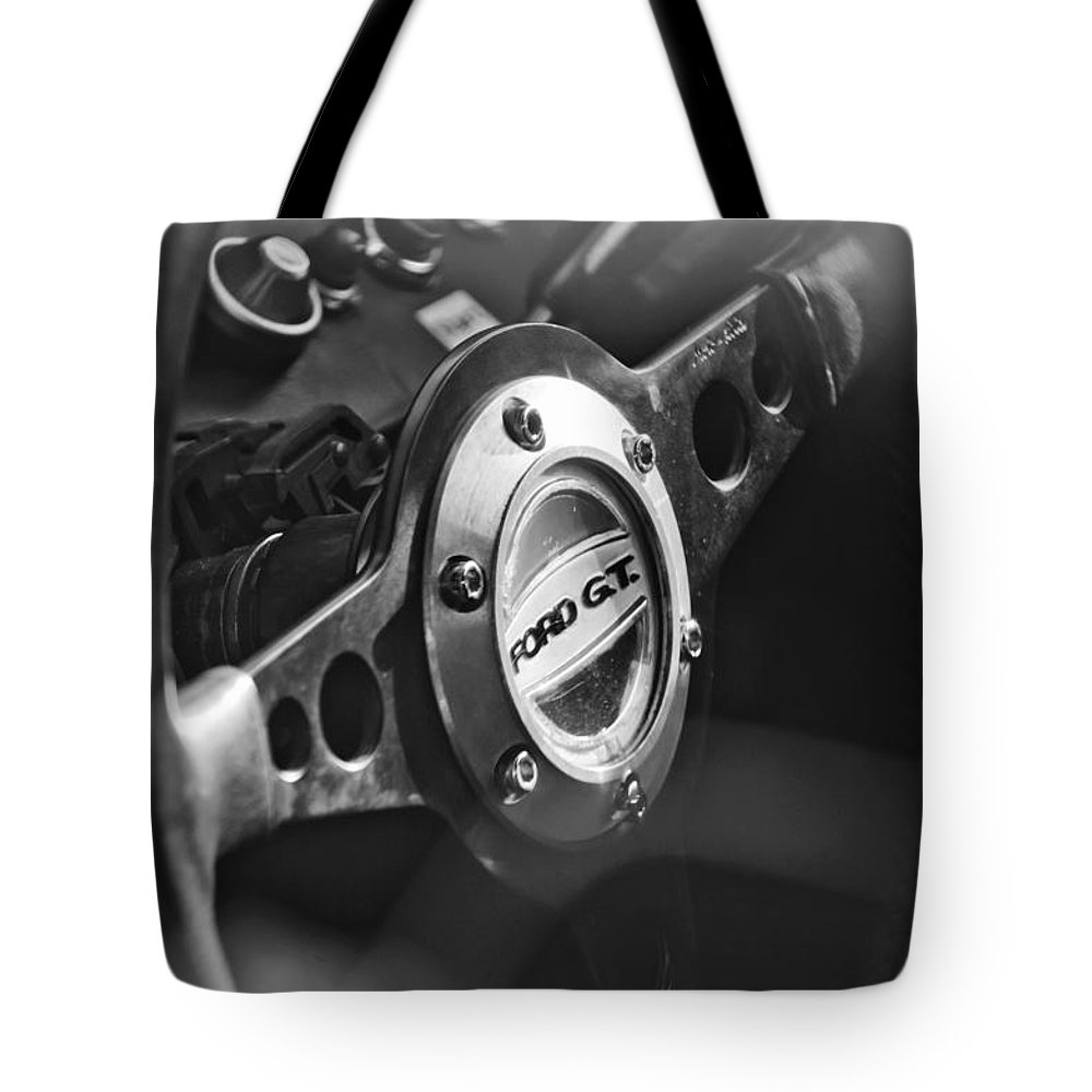 Ford Gt  Steering Wheel Emblem Tote Bag Featuring The Photograph  Ford Gt