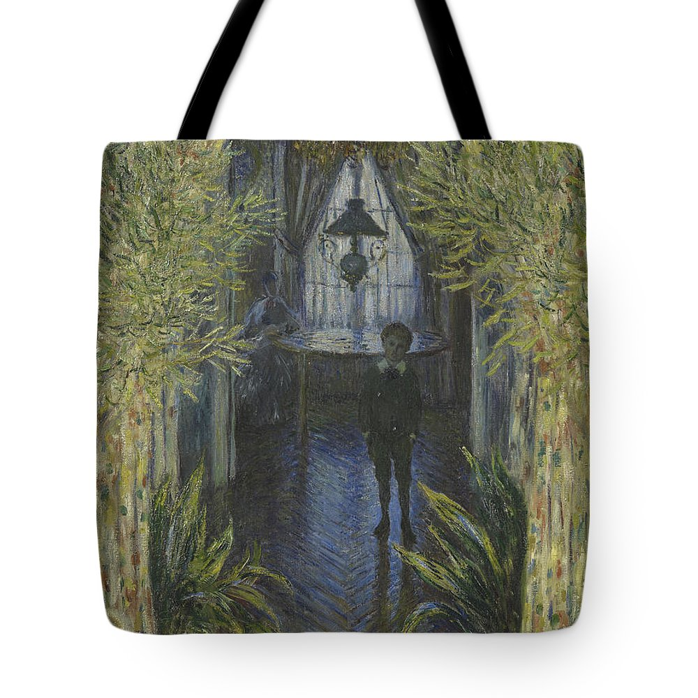 Claude Monet Tote Bag featuring the painting A Corner Of The Apartment by Claude Monet