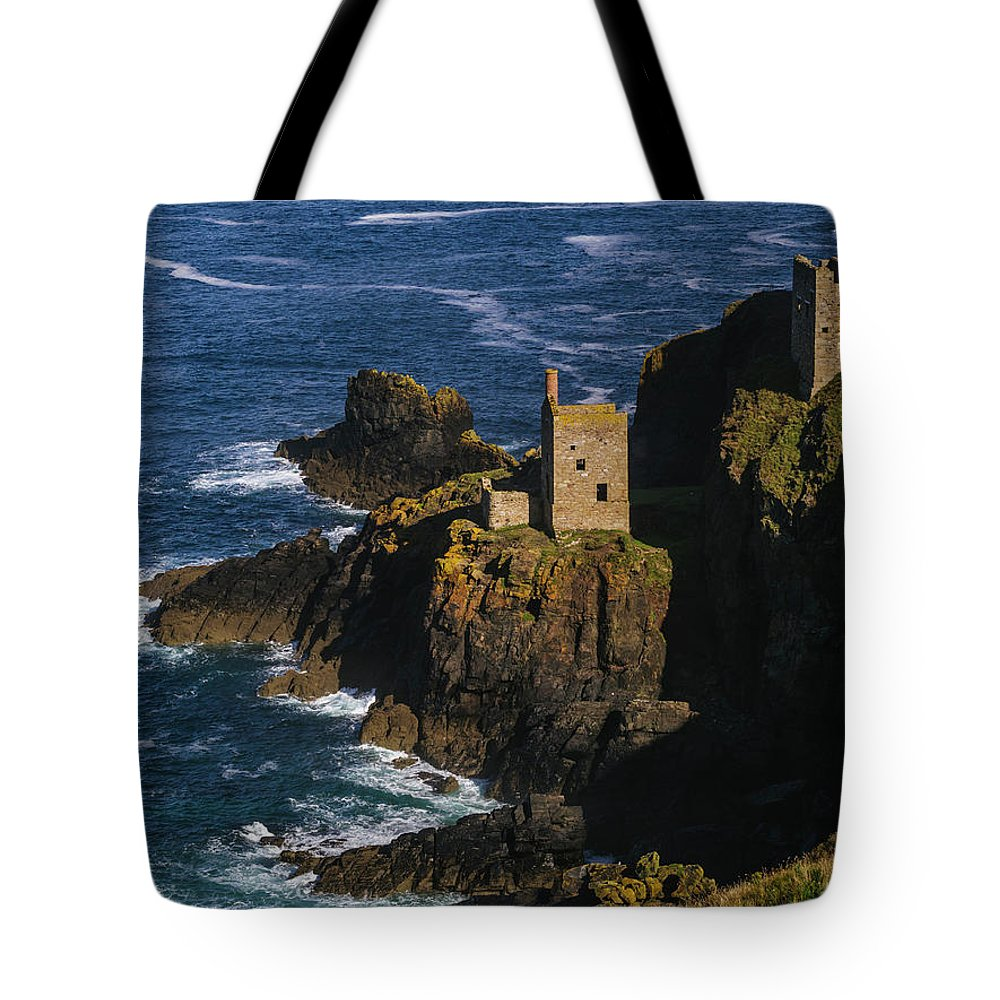 Scenics Tote Bag featuring the photograph Abandoned Tin Mines Near Bottalack by Doug Armand