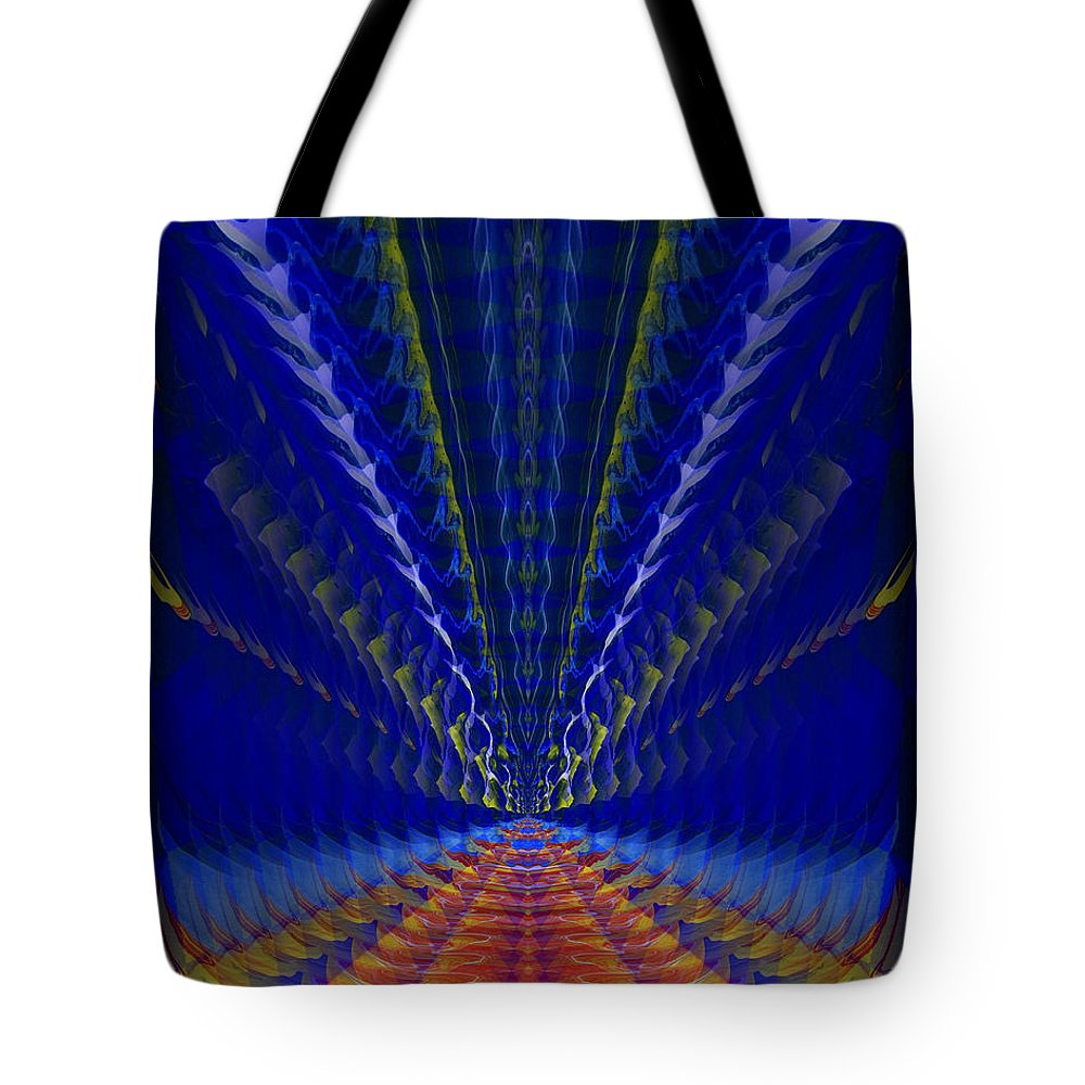 Original Tote Bag featuring the painting Abstract 105 by J D Owen
