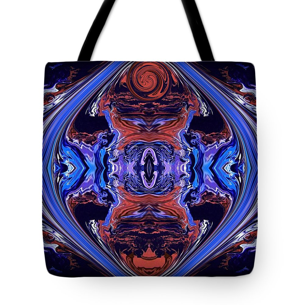 Original Tote Bag featuring the painting Abstract 110 by J D Owen