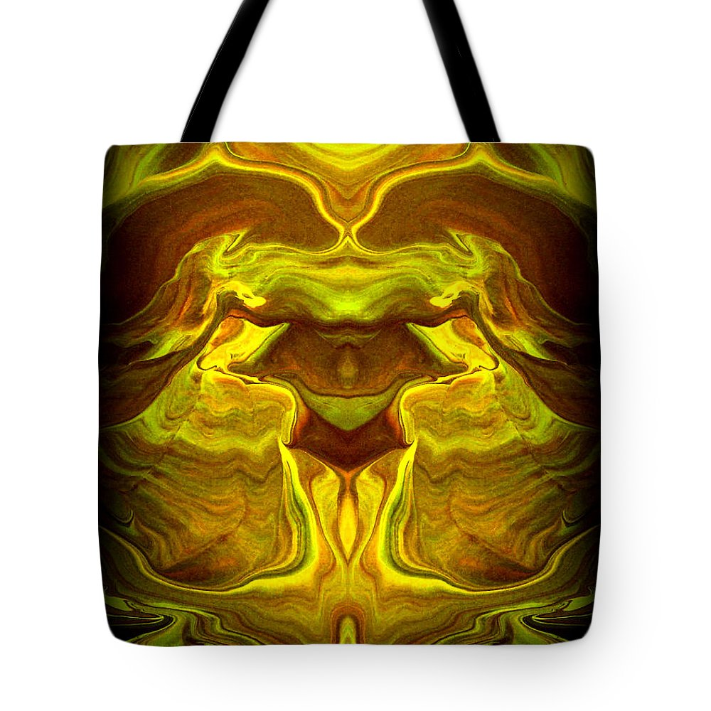 Original Tote Bag featuring the painting Abstract 118 by J D Owen