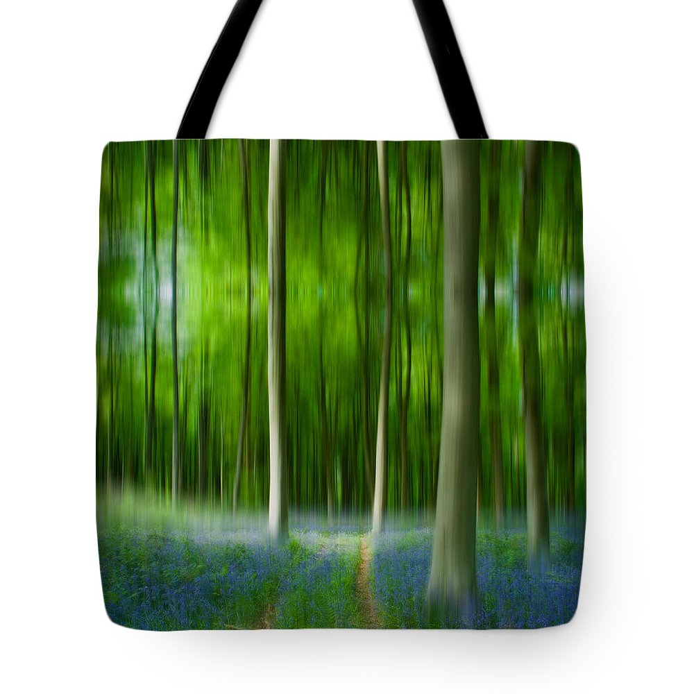 Blue Bell Tote Bag featuring the photograph Blue Bell Art Digital Art by David French