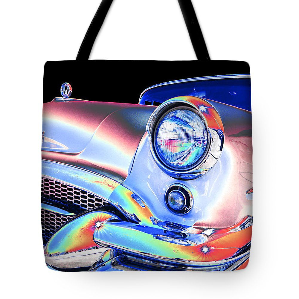 1955 Buick Tote Bag featuring the photograph Buick by Allan Price