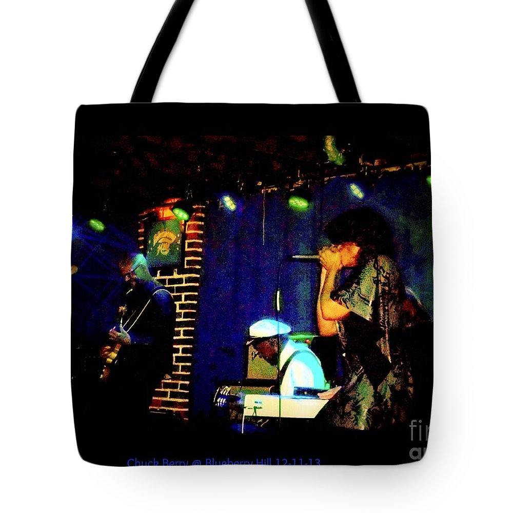 Tote Bag featuring the photograph Chuck Berry At Blueberry Hill 12-11-13 by Kelly Awad