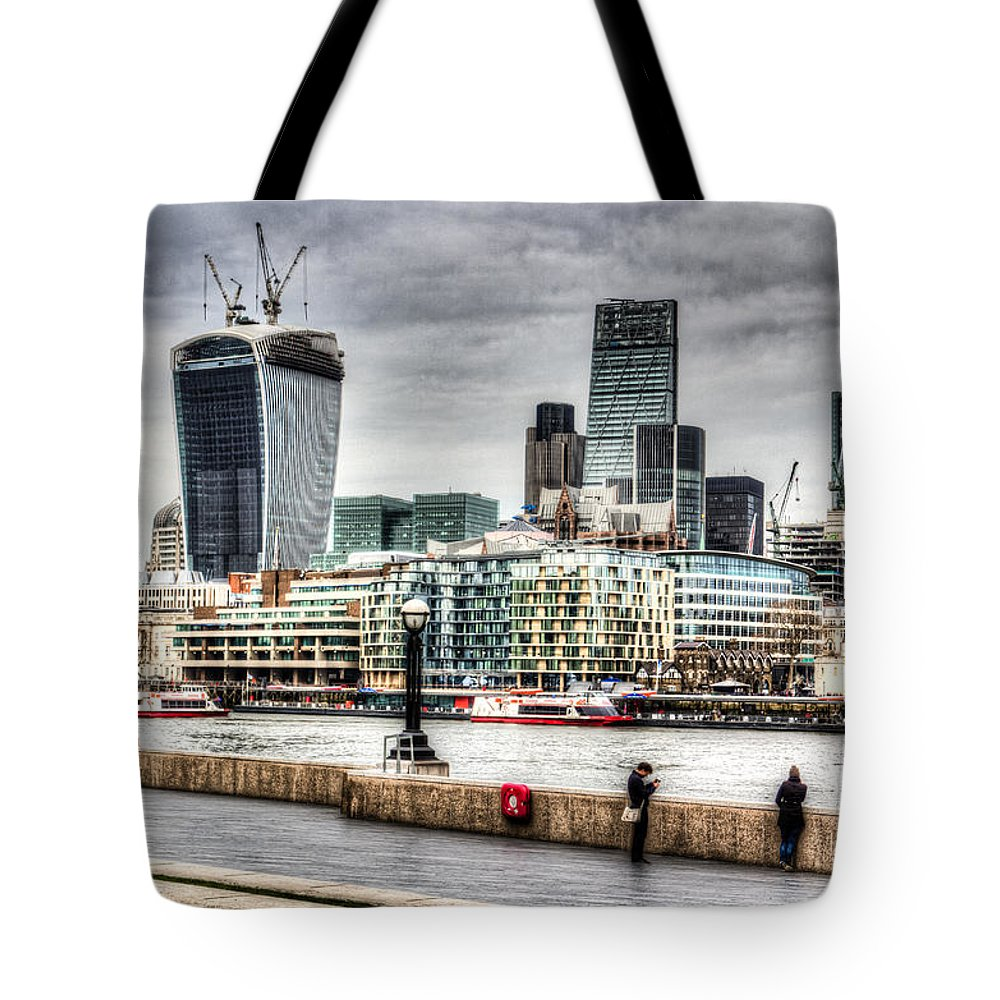 City Of London Tote Bag featuring the photograph City Of London by David Pyatt