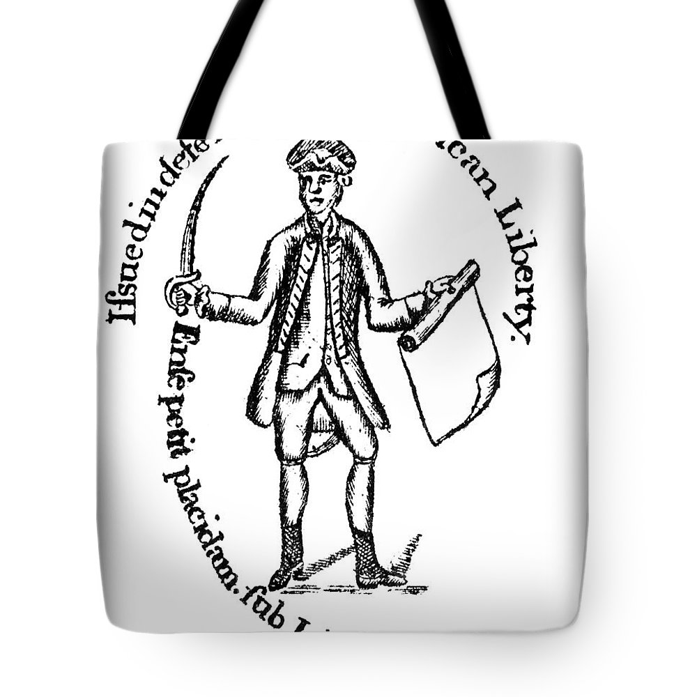 1775 Tote Bag featuring the photograph Continental Soldier by Granger