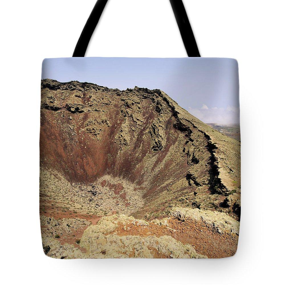 Volcano Tote Bag featuring the photograph Corona Volcano On Lanzarote by Karol Kozlowski