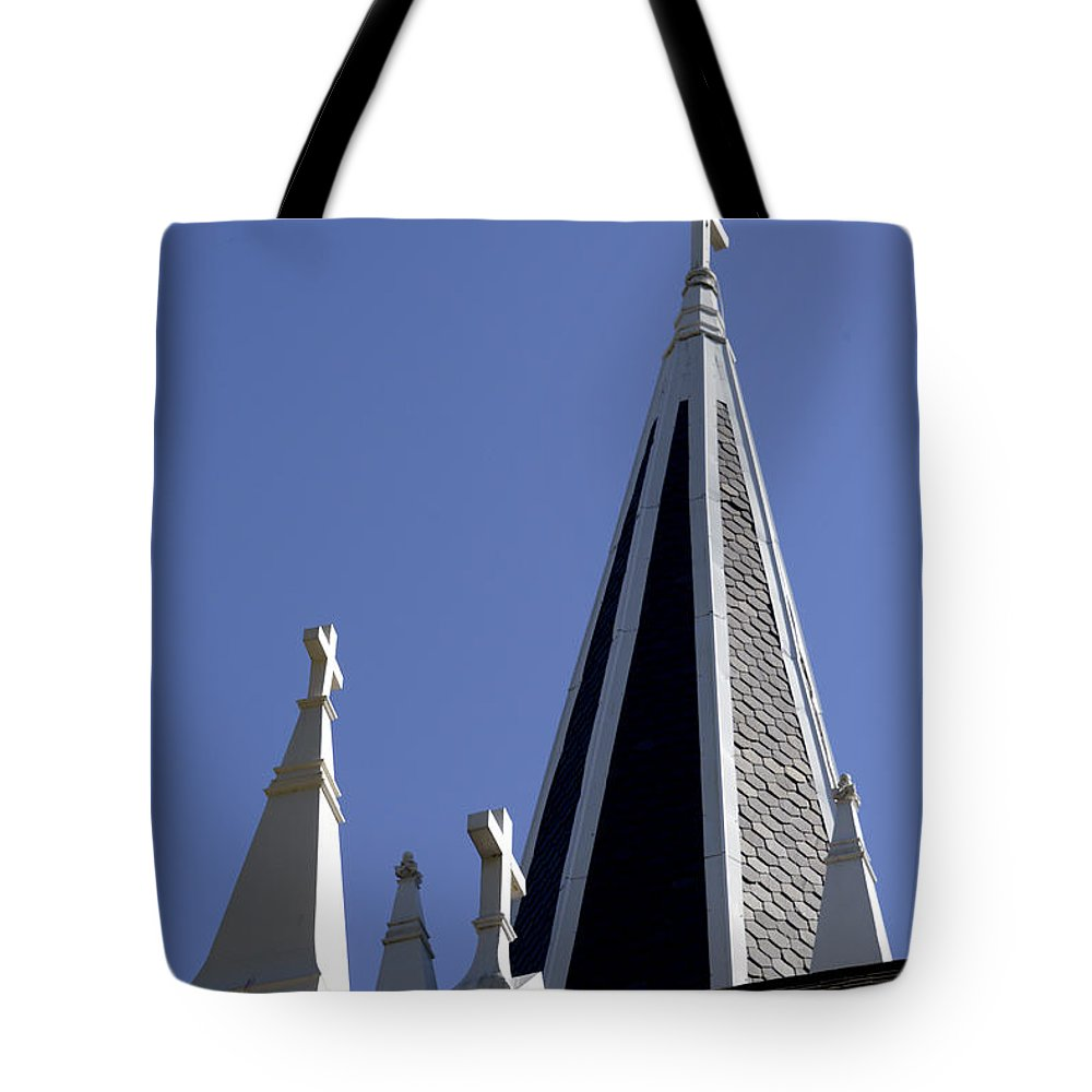 Harpers Ferry Tote Bag featuring the photograph 3 Crosses by Paul W Faust - Impressions of Light