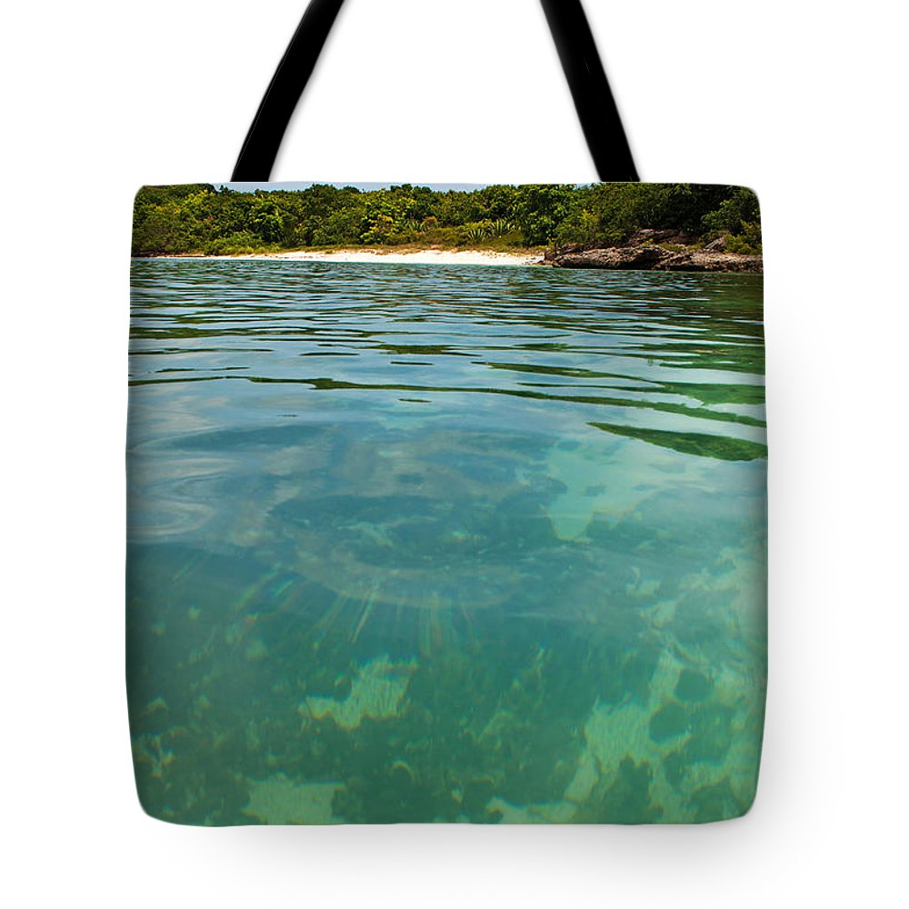 Beach Tote Bag featuring the photograph Deserted Beach by Luis Alvarenga