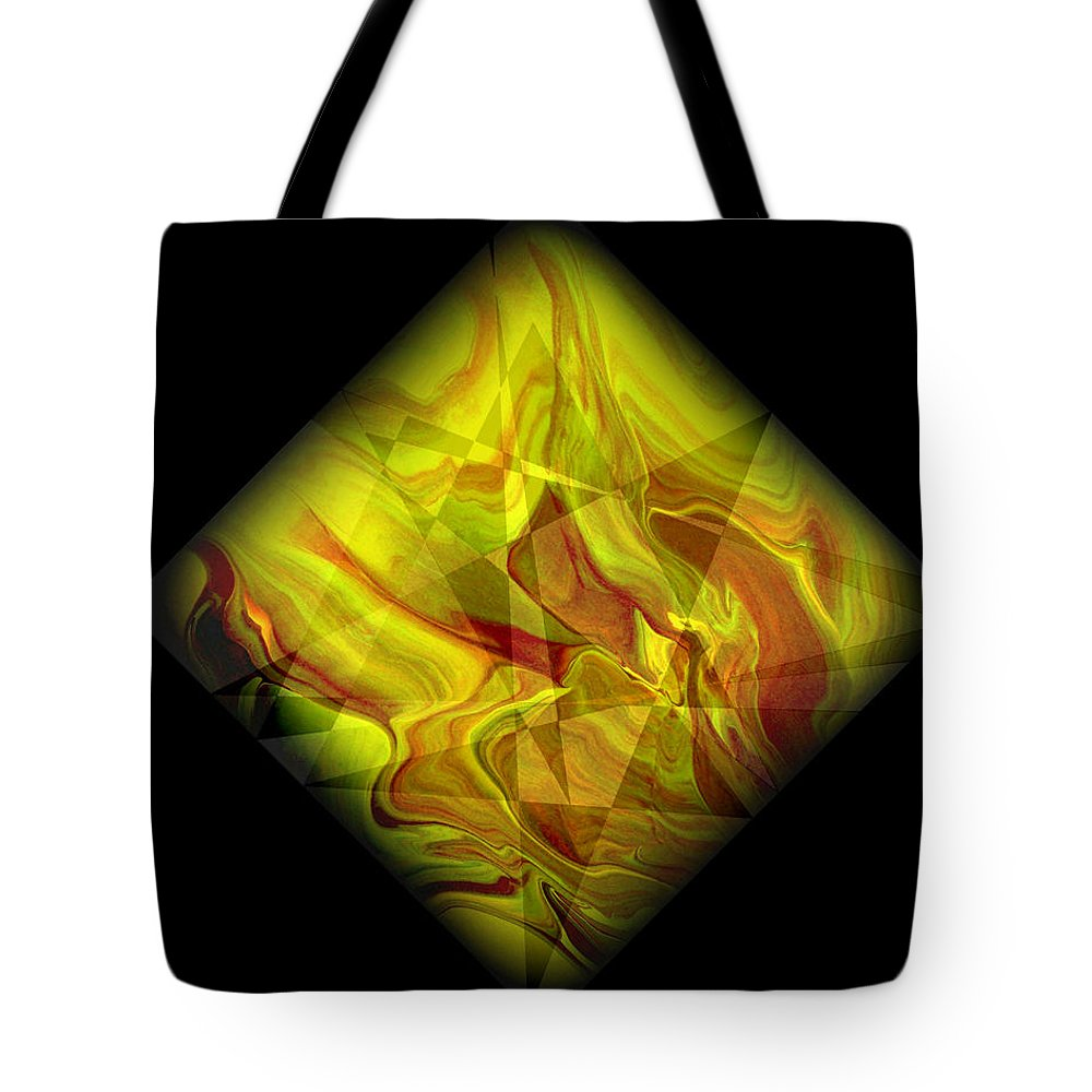 Symmetrical Tote Bag featuring the painting Diamond 105 by J D Owen