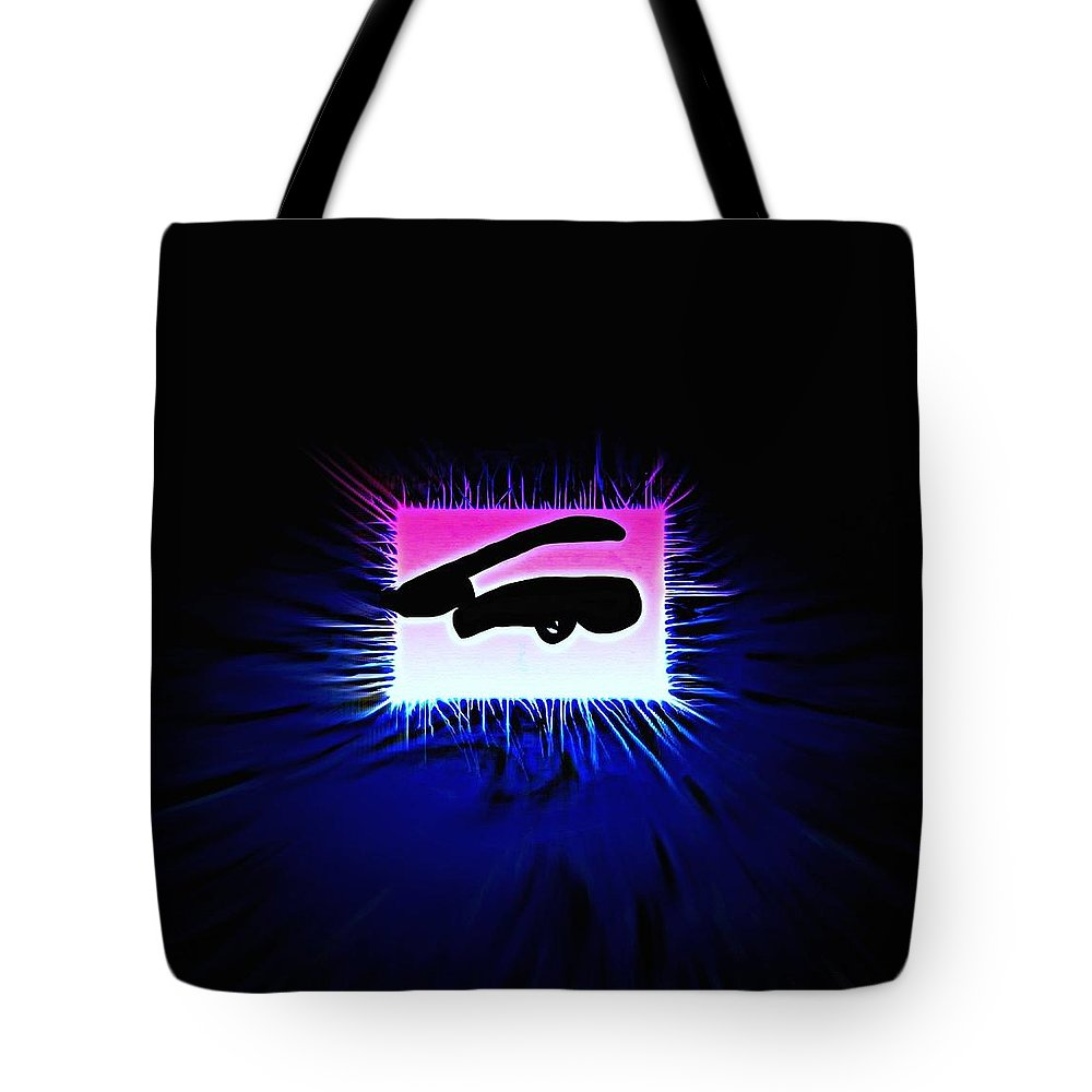 Eye Tote Bag featuring the painting Distorted Dreams by Frances Lewis