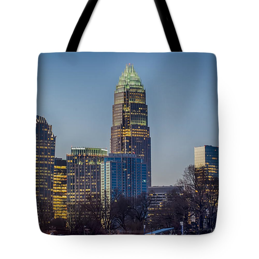 Early Tote Bag featuring the photograph Early Morning In Charlotte Nc by Alex Grichenko